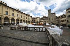 Big square or vasari arezzo tuscan italy europe Stock Photos