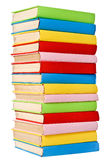 Big stack of books in hard cover. Royalty Free Stock Photo