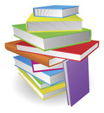 Big stack of books illustration Stock Image