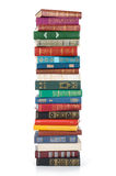 Big stack of books. Isolated on white background Royalty Free Stock Image