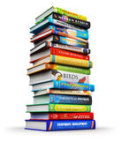 Big stack of color hardcover books Stock Image