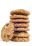 Big Stack Of Delicious Chocolate Chip Cookies Stock Photo