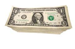 Big Stack of Dollar Bills Stock Image