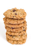 Big Stack Of Fresh Baked Chocolate Chip Cookies Royalty Free Stock Image