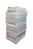 Big stack of magazines Royalty Free Stock Photo