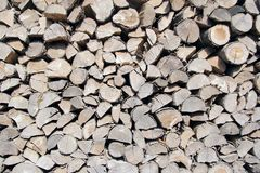 Many woods. Big stack of many old wood Stock Photography