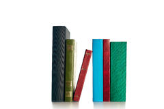 Big Stack of Old antique books. On white background Royalty Free Stock Images