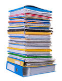 Big stack of paper. Isolated on white background Royalty Free Stock Images
