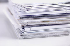 Big stack of papers ,documents on the desk Royalty Free Stock Images