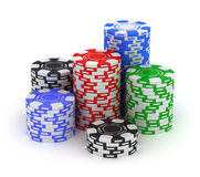 Big stack. Poker gambling chips Royalty Free Stock Images