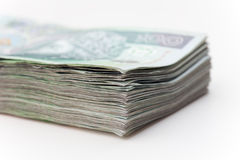 Big stack of polish money Stock Image