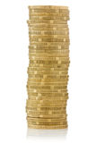 Big stack of yellow coins Royalty Free Stock Image