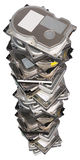 Big stacked Hard drives Royalty Free Stock Image
