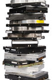 Big stacked Hard drives Stock Photo
