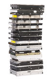 Big stacked Hard drives Royalty Free Stock Photo
