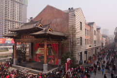 Big stage of Chinese traditional opera Royalty Free Stock Photo