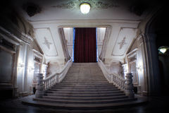 Big staircase. Very big staircase made of marble Stock Image