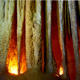 Big stalactites in the cave Royalty Free Stock Photos