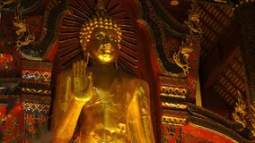 Big standing buddha image slider close up Royalty Free Stock Photos