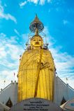 Big Standing Buddha at Wat Intharawihan temple, Bangkok Stock Images