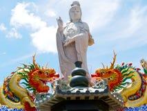 Big Standing Guan Yin Stock Photo