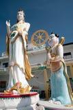 Big Standing Guan Yin statue,Wat Khao Tao in Thailand. Stock Photo