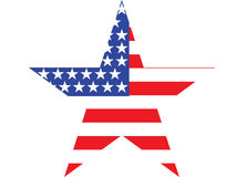 Big Star American Flag on White background. Graphic image Royalty Free Stock Image