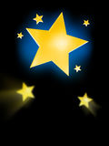 Big Star Background Stock Photography