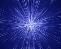 Big Star Burst. Bright and vivid blue burst of rays or spectacular fireworks Stock Photo