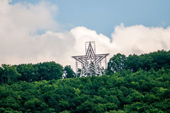 Big star. Of a star city roanoke virginia Royalty Free Stock Images