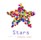 Big star composed Royalty Free Stock Photo