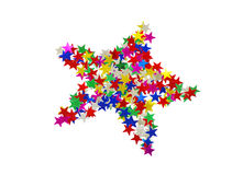 Big star composed of many colored stars Royalty Free Stock Photography