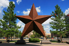 Big star decorated in Austin city Royalty Free Stock Image