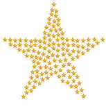 A big star with lot of gold stars Stock Photo