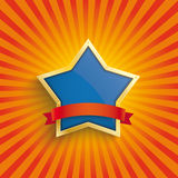 Big Star Retro Sun Royalty Free Stock Image