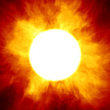 Big star similar to the sun. With a huge fiery crown Royalty Free Stock Image