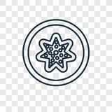 Big Starfish concept vector linear icon isolated on transparent stock illustration