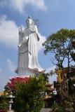 Big statue of Bodhisattva at Buddhist Chau Thoi temple, Binh Duo Royalty Free Stock Image