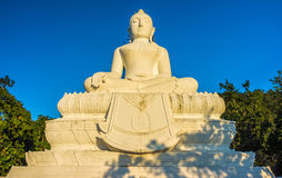 Big statue of Buddha image in the evening Stock Photo