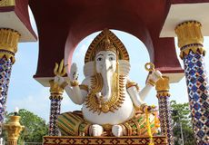 Big statue of Ganesh stock photos