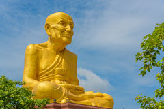 The big statue of Luang Phor Thuad in Ang Thong, Thailand. (Buddhist monk Royalty Free Stock Photography