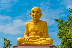 The big statue of Luang Phor Thuad in Ang Thong, Thailand. (Buddhist monk Royalty Free Stock Images