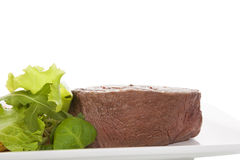 Big steak with salad. Royalty Free Stock Photos