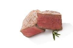 Big steak on white. Stock Photos