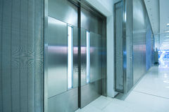 Big steel door in office building Stock Photography