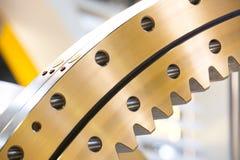 Big steel gear. Shot close-up photo Metallic Stock Photos