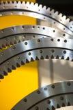 Big steel gear. Shot close-up photo Metallic Royalty Free Stock Image