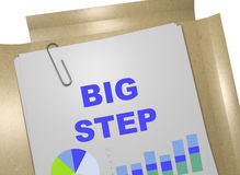 Big Step concept. 3D illustration of BIG STEP title on business document Stock Photo
