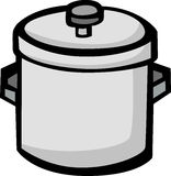 Big stockpot vector illustration Royalty Free Stock Photo