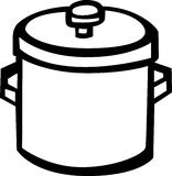 big stockpot vector illustration Stock Photos